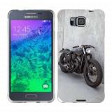 Husa Samsung Galaxy Alpha G850F Silicon Gel Tpu Model Motocicleta Vintage