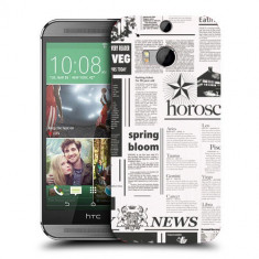 Husa HTC One M8 Silicon Gel Tpu Model Newspaper