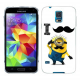 Husa Samsung Galaxy S5 G900 G901 Plus G903 Neo Silicon Gel Tpu Model Minion Mustache