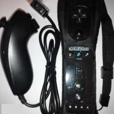 Set Nintendo maneta controller Wii + U Telecomanda Motion Plus nunchuck husa NOU