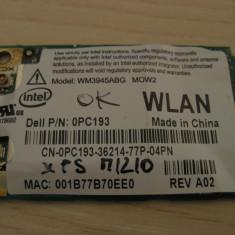 Placa de retea wireless laptop Dell XPS M1210, Intel WM3945ABG MOW2, 0PC193