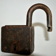 Lacat vechi fara cheita - Metal/Fonta, Ornamentale