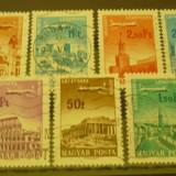 UNGARIA 1966 – POSTA AERIANA VEDERI, serie stampilata K109, Stampilat