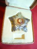 Decoratie Steaua RSR cl. IV , metal argintat