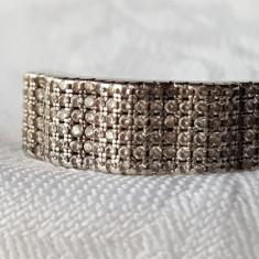 Inel argint cu zirconii VECHI Splendid vintage Superb FINUT Delicat Elegant