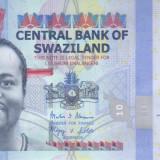 Bancnota Swaziland 10 Emalangeni 2014 - P36b UNC - bancnota africa