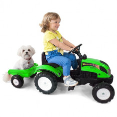 Tractor cu Remorca Garden Master Green Falk