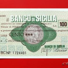 ITALIA - 100 Lire 1977 - Banco Di Sicilia - aUNC - Cambie si Cec