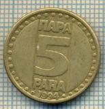 10708 MONEDA- YUGOSLAVIA - 5 PARA -anul 1994 -STAREA CARE SE VEDE