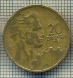 10700 MONEDA- YUGOSLAVIA - 20 DINARA -anul 1955 -STAREA CARE SE VEDE