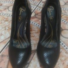Pantofi piele Bata - Pantof dama Bata, Culoare: Negru, Marime: 38