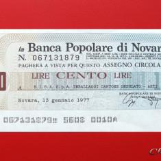 ITALIA - 100 Lire 1977 - Banca Popolare di Novara - aUNC - Cambie si Cec