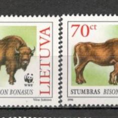 Lituania.1996 Protejarea naturii-Bizoni KX.290 - Timbre straine, Nestampilat