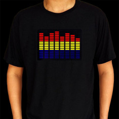 Tricou luminos cu egalizator Tricolor - Tricou barbati, Maneca scurta