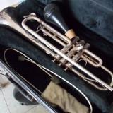 Trompeta suflata cu argint, marca King , made in USA