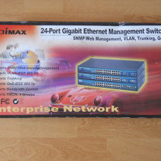 Switch Edimax ES-5224RM, 24 porturi, Management.