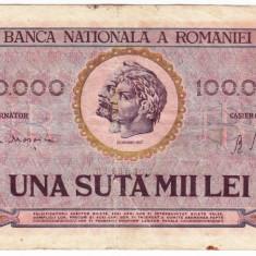 Bancnota 100000 lei 1947 - Bancnota romaneasca