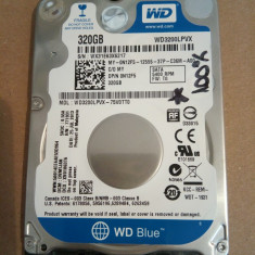 Hard Disk / HDD SATA WESTERN DIGITAL SCORPIO BLUE 320GB SLIM 100% HEALTH Laptop - HDD laptop Western Digital, 300-499 GB, Rotatii: 5400