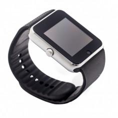 Smartwatch cu Telefon GT08 2016, Camera 1, 3 Mpx, LCD, Android, IOS, Aluminiu, Android Wear, Apple Watch