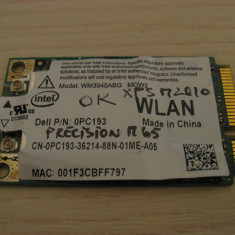 Placa de retea wireless laptop Dell Precision M65, Intel WM3945ABG MOW2, 0PC193