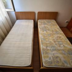 Paturi de o persoană + saltele - Pat dormitor
