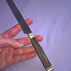 Cutit vechi cu maner lemn si metal - Briceag/Cutit vanatoare