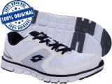Adidasi barbat Lotto Ease - adidasi originali - running - adidasi alergare, 42, 43, Alb, Textil