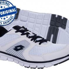 Adidasi barbat Lotto Ease - adidasi originali - running - adidasi alergare - Adidasi barbati Lotto, Marime: 40, 41, 42, 43, 44, Culoare: Alb, Textil