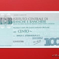 ITALIA - 100 Lire 1977 - Istituto Centrale di Banche e Banchieri - UNC - Cambie si Cec