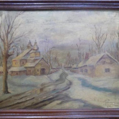 G. Nicolau, Peisaj de iarna in Basarabia - Pictor roman