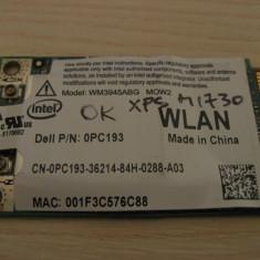 Placa de retea wireless laptop Dell XPS M1730, Intel WM3945ABG MOW2, 0PC193