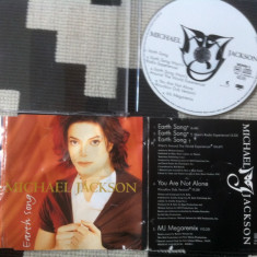 Michael jackson ‎earth song cd disc maxi single muzica pop disco house 1995 epic