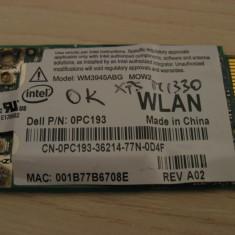 Placa de retea wireless laptop Dell XPS M1330, Intel WM3945ABG MOW2, 0PC193