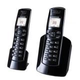 Telefon digital fara fir Dect Sagemcom D150Duo Black - Telefon fix