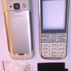 Carcasa Nokia C5 argintie originala noua