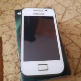 Samsung S5830 Galaxy Ace la cutie - 189 lei - Telefon Samsung, Alb, Nu se aplica, Neblocat, Single SIM, Fara procesor