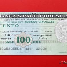 ITALIA - 100 Lire 1976 - Banca S. Paolo Brescia - UNC - Cambie si Cec