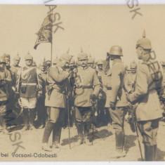 3802 - (13013) FOCSANI-ODOBESTI, Parada, German King - old PC real PHOTO unused - Carte Postala Moldova 1904-1918, Necirculata, Fotografie