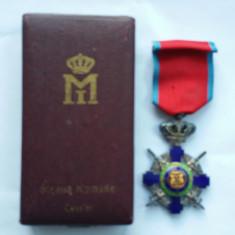 DECORATIE MILITARA ROMANEASCA - STEAUA ROMANIEI - grad - CAVALER - REGE MIHAI 1