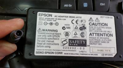 93.Incarcator Imprimanta Epson A171E 24V 0.8A  + Cablu Alimentare foto