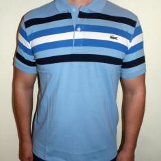 Tricouri LACOSTE - Alb / Albastru - Noua Colectie !!! - Tricou barbati, Marime: S, M, L, XL, XXL, Maneca scurta, Bumbac