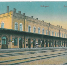 3783 - ( 13006 ) - BOTOSANI, Railway Station - old postcard - used - 1917 - Carte Postala Moldova 1904-1918, Circulata, Printata