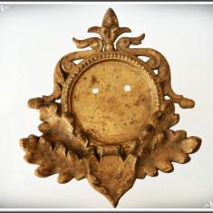 PANOPLIE VÂNĂTOREASCĂ FOARTE VECHE, FĂCUTĂ DIN FONTĂ MASIVĂ CU FRUNZE DE STEJAR! - Metal/Fonta, Ornamentale