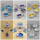 Seturi Argint 925 Marcat- Ametist/Albastru/Rosu/Verde/Mov/Galben/-Cutie Cadou!!!