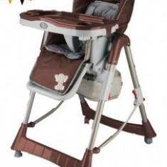 Scaun de masa copii Tower Maxi Brown BabyGo