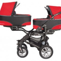 Carucior Gemeni 3 in 1 Twinni Mexican Red