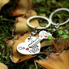 Breloc fantezie i love you 2 bucati  + ambalaj cadou