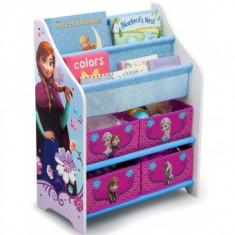 Organizator jucarii cu cadru din lemn Disney Frozen - Sistem depozitare jucarii
