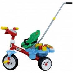 Tricicleta Baby Trike 1Ani+ cu maner si set de cuburi - Tricicleta copii