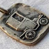 Medalion argint 800 MASINA de EPOCA superb VECHI vintage SPLENDID de colectie